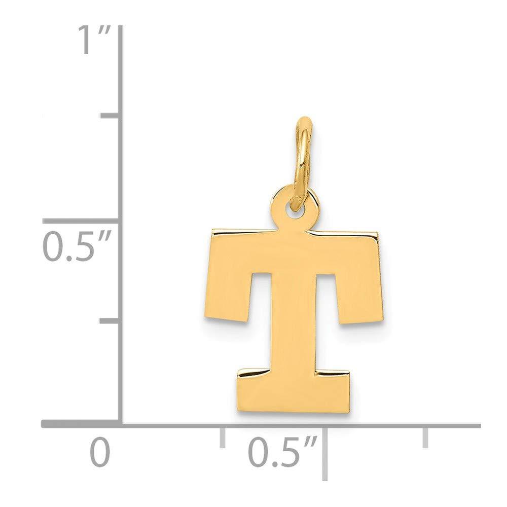 Mia Diamonds 14K Yellow Gold Small Blockinitial T Charm