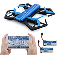 JJRC H43WH Foldable Drone, Kingtoys Quadcopter Drone with WiFi 720P HD Camera, APP Control FPV Drone,Altitude Hold, and Headless Mode Function with 2pcs 500mAH Batteries