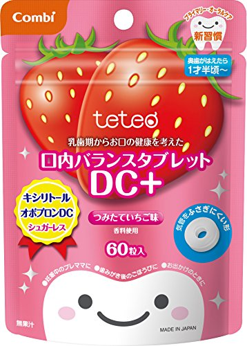 Combi Teteo deciduous life mouth balance tablet was considered the health of your mouth from DC + funded strawberry flavor 60 grain input