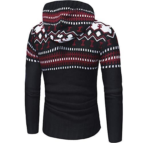 Suéter de Invierno de los Hombres de Punto de otoño Chaqueta de Punto con Capucha Chaqueta con Capucha Outwear por Internet.: Amazon.es: Ropa y accesorios