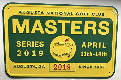 2019 Masters golf bar pub sign Tiger Woods badge style new augusta -