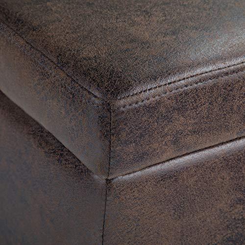 Simpli AXCF18-DBR Avalon Distressed Leather