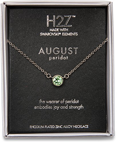 Pavilion Gift Company H2Z 16223 August Peridot Birthstone Necklace with 18