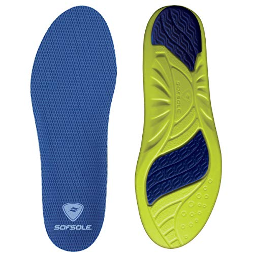 Sof Sole Insoles Women's Athlete Performance Full-Length Gel Shoe Insert, Women's Size 8-11 Blue