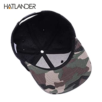Vivian Inc Baseball Caps Wool Snapback Caps Plain Camouflage Baseball Cap (Black Brim, Fits Adult Most) at Amazon Womens Clothing store: