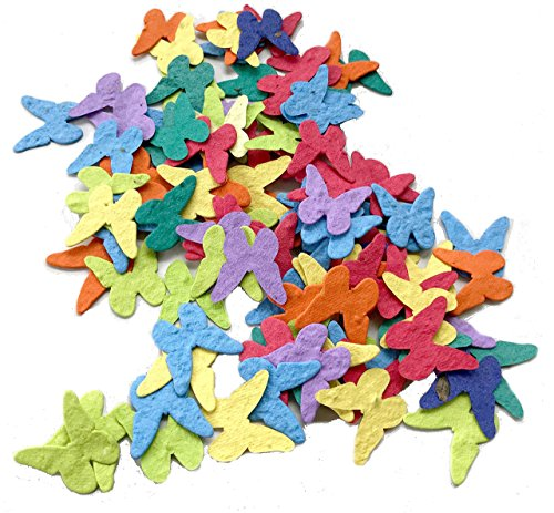Seed Paper Butterfly Party & Wedding Favors Vibrant Assorted (Qty. 100)