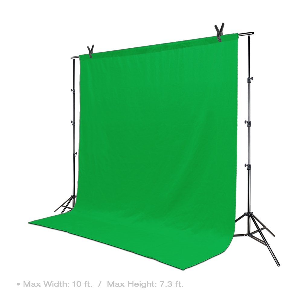 LimoStudio Photo Video Studio 10 ft. Width Adjustable Background Stand Backdrop Support Structure System Kit with Photo Clamp and Sand Bag, Photography Studio, AGG2348V2 by LimoStudio (Image #2)