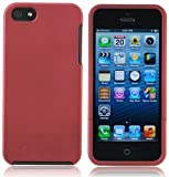 Splash Cruiser Slim-Fit Polycarbonate Slider Case/Cover for iPhone 5 - RED