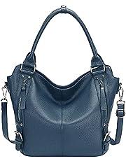 OVER EARTH Genuine Leather Handbags for Women Hobo Shoulder Bag Ladies Leather Tote Bag