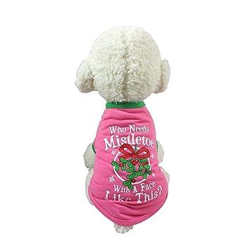 Smoro Ropa para Perros Mascotas Traje de Navidad Ropa de Dibujos Animados Lindo para pequeños Trajes de Perros medianos Ropa de Navidad: Amazon.es: ...