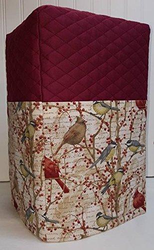 Birds & Berries Coffee Maker Cover (Burgundy)