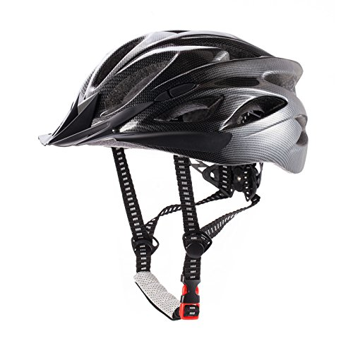 CCTRO Adult Cycling Bike Helmet, Eco-Friendly Adjustable Trinity Men Women Mountain Bicycle Road Bike Helmet Safety Protection (A Black)