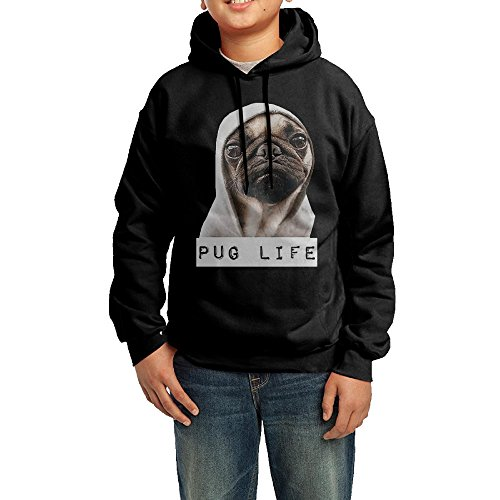 Price comparison product image Funny Pugs Life Hoodie Pug Boys' Hooded Sweatshirt