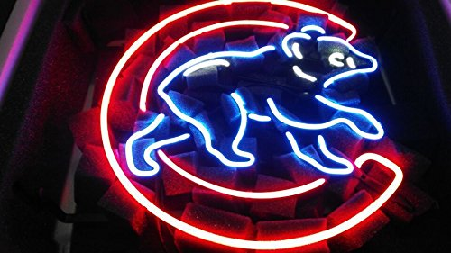 Desung New 17''x13'' Chicago Sports Team Cub Logo2 Neon Sign (Multiple Sizes Available) Man Cave Sports Bar Pub Beer Glass Neon Light Lamp CX48