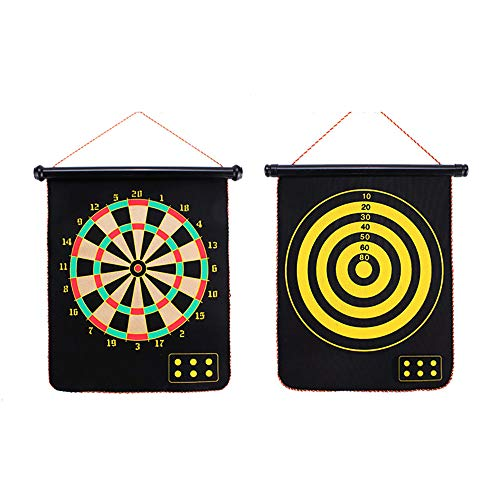 (ZZKJNIU Powerful Magnet Darts - Roll Up 6 Magnets Darts Double-Sided Safe for Children Adult Darts Game Party Set/Security,B)
