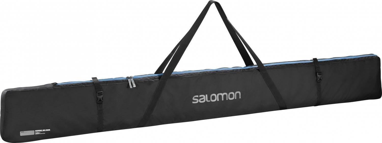 Salomon Bolsa expandible para esquís, 3 Pair, Nordic SKI Bag, Negro/Azul, l38299900