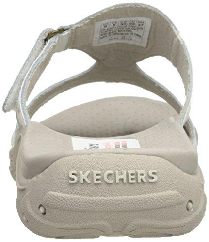 Cuero Skechers Town Reggae Sandal Slide Trench blanco qq1pxAPw