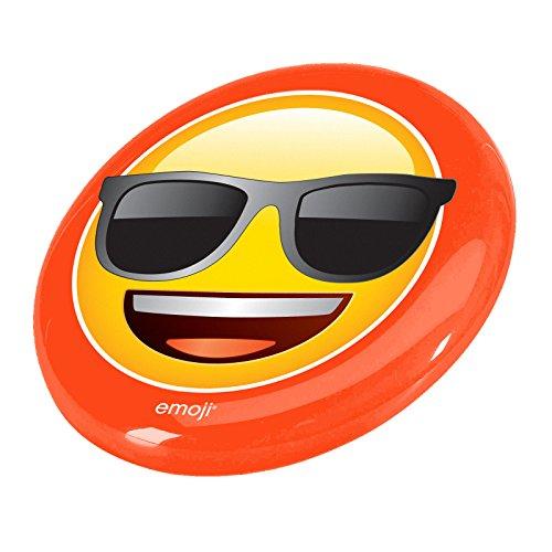 Coussin Disque volant Lunettes de soleil visage–Jaune