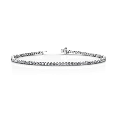 Diamond Tennis Bracelet (SI2-I1-Clarity, G-H-Color) 1.30 ct tw in 14K Gold