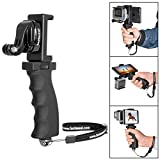 Fantaseal Ergonomic Action Camera Hand Grip Mount w/Smartphone Clip Compatible with GoPro Grip GoPro Holder for GoPro Hero 7 6 5/4/3/Session Garmin Virb XE Xiaomi Yi SJCAM Handle Grip Selfie Stick