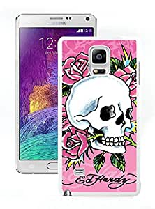 Fashionable And Durable Custom Designed Cover Case For Samsung Galaxy Note 4 N910A N910T N910P N910V N910R4 With Ed Hardy 13 White Phone Case