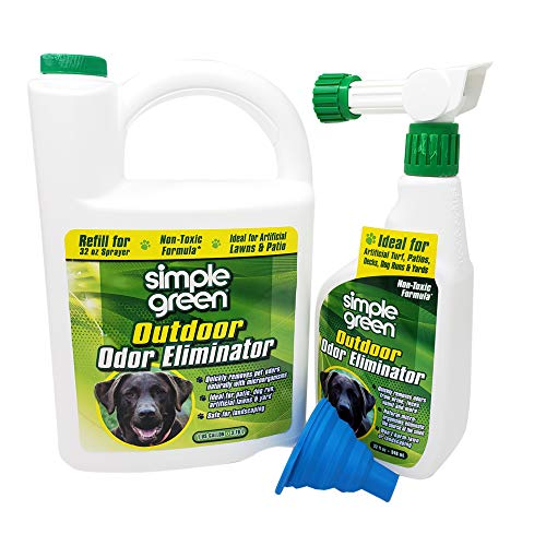 Simple Green Outdoor Pet Odor Eliminator 1 Gallon & 32 oz - Bundle Set