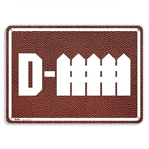Ballkleid Decoration Plaque Sign D-Fence White On Football Retro Metal Safety Gift Road Street Sign -