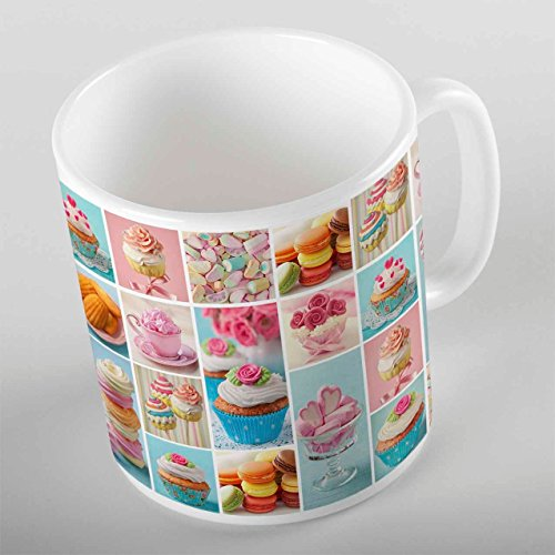 3D ELSE HALI Patchwork Cup Cakes Retro Porcelain Art Coffee