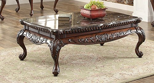 Homelegance Mariaclara Coffee Table in Dark Cherry