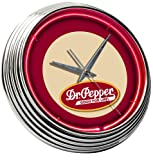 On The Edge Dr Pepper Neon Clock