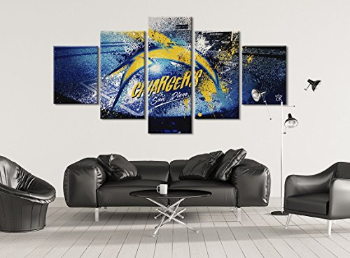 Chargers San Diego Football Canvas - Hand Made In The US - Framed And Ready To Hang by Canvas Kings