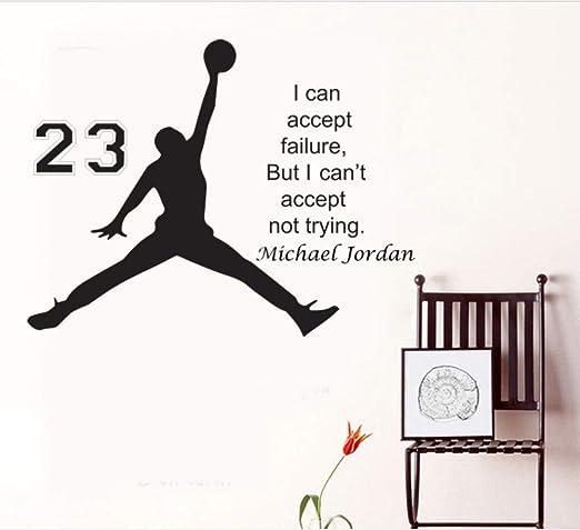 HLLCY diseño Michael Jordan Etiqueta de la Pared Vinilo DIY Home ...
