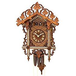 German Antique replica clock 1-day-movement 18.50 inch - Authentic black forest cuckoo clock by Rombach & Haas