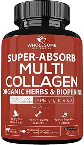 Multi Collagen Protein Capsules Bioperine Grass Fed product image