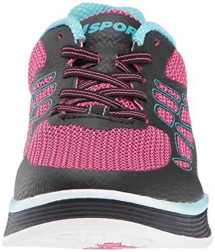 Jsport By Jambu Womens Sport Walker Fashion Sneaker Rosa Caldo / Nero