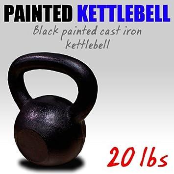 Nueva cielo-blue 20 kg de hierro fundido pesas rusas peso mancuernas Kettlebell: Amazon.es: Deportes y aire libre