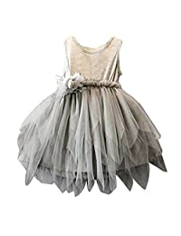 Flank Flower Girls Kids Toddler Baby Princess Party Pageant Wedding Tulle Tutu Dresses (90)