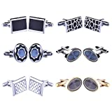 BodyJ4You Cufflink 12 Pairs Two Tone Classy Stylish Mens Cuff Links Elegant Gift Box
