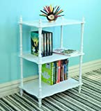 Frenchi Home Furnishing Kid's 3-Tier Shelves, White
