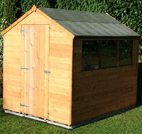 hawklok 8x6ft plastic shed base kit for a garden shed. Black Bedroom Furniture Sets. Home Design Ideas