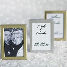 Easel Back Mini Photo Frames Brushed Silver Set of 3 Wedding Favor