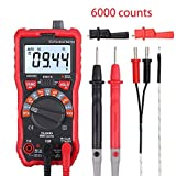 CAMWAY Digital Multimeter 6000 Counts True RMS Auto Ranging NCV AC/DC Voltage Current