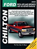 chilton s ford pick ups and bronco 1987 96 repair manual chilton s rh amazon com 1996 ford f250 owners manual 1996 ford f350 owners manual