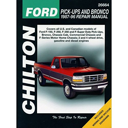 Ford F-100, F-150, F-250, F-350, Bronco, Chassis Cab, Repair Manual 1980-1996