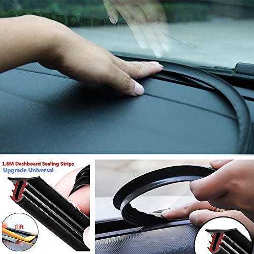 (Auto Edge Trim Rubber,5.25ft/1.6M U Type Rubber Universal Car Dashboard Edges Sealing Strip Noise Insulation Soundproof Strip)