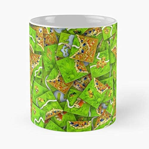 92Wear Carcassonne Board Game Boardgame Tiles Meeple Dice Heap - Best 11 Ounce Cerámica Coffee Mug Gift: Amazon.es: Hogar