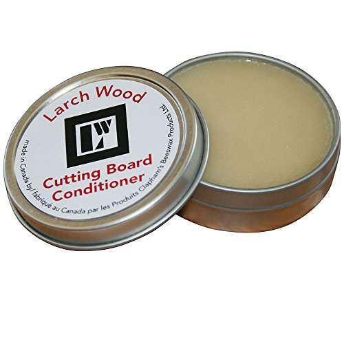 LW HANDMADE LARCH WOOD CANADA Beeswax and Mineral Oil Cutting Board Conditioner - Small (1.6 oz/ 45g)
