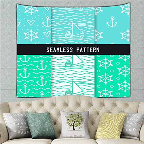 pendan2 Hand Drawn Set Naval Vintage Hippie Tapestry Wall Art for Living Room Bedroom Dorm Decor 50ʺ × 60ʺ
