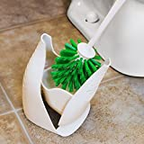 Libman 1196, 2-Pack Bowl Brush and Caddy, White/Green