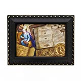 Message Brands St. Joseph Story Music Box 8 x 6 x 2.75 inches Plays Hallelujah Chorus Black Distressed